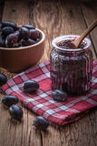 Dark grape jam Royalty Free Stock Photo