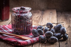 Dark grape jam Stock Photography