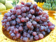 Dark grapes on a plate Stock Photo