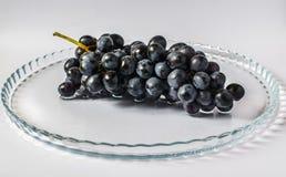 Dark grapes on a tray Royalty Free Stock Image