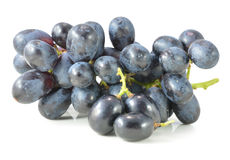 Dark grapes,  on white background Stock Photography