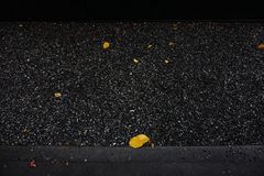 Dark gravel floor. In the park, black texture Royalty Free Stock Images