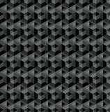Dark gray abstract geometric hexagonal seamless pattern royalty free illustration