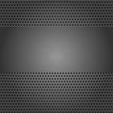 Dark gray background perforated sheet Stock Photo