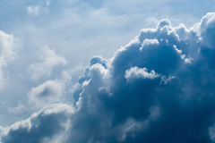Dark gray and black clouds with some interesting light Royalty Free Stock Images