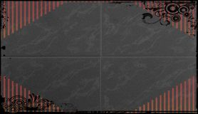 Dark gray blackboard with outline of red stripes Stock Images