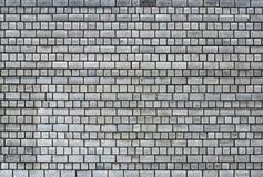 Dark gray brickwall surface Royalty Free Stock Image