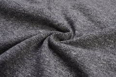 Dark gray cloth made by cotton fiber Royalty Free Stock Images