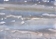 Dark gray clouded watercolor illustration. Hand-drawn abstract watercolor texture. Used contrasting and transient colors Stock Photography
