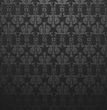Dark Gray Damask  Wallpaper Stock Photography