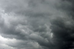 Dark gray dramatic sky Royalty Free Stock Photos
