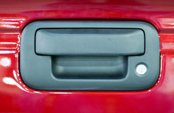 Dark Gray Exterior Car Door Handle Stock Image