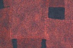 Dark gray felt decoration with red silk Royalty Free Stock Image
