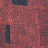 Dark gray felt decoration with red silk Royalty Free Stock Photography