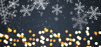 Dark gray festive Christmas background Royalty Free Stock Photos