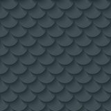 Dark gray fish scale seamless background. Stock Images