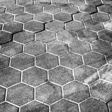 Dark gray honeycomb cobblestone pattern Stock Image
