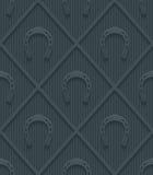 Dark gray horseshoes wallpaper. Royalty Free Stock Photography