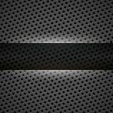 Dark gray metal background Stock Photos