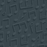 Dark gray musical wallpaper. Stock Images