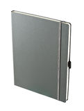 Dark gray notebook isolated Royalty Free Stock Image