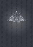 Dark Gray Ornate Cover Royalty Free Stock Photography