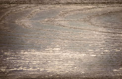 Dark gray scratched wooden plank. Wood texture Stock Photos