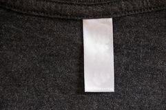 Dark Gray Shirt Label Stock Photo
