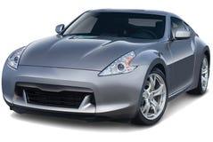 Dark Gray Sports Car Front Stock Photo