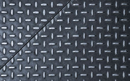 Dark gray steel sheets with diamond pattern Stock Images
