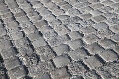 Dark gray stone urban floor pavement texture Stock Photos