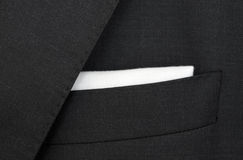 Dark gray suit detail Royalty Free Stock Photos