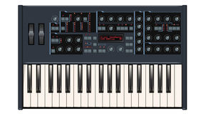 Dark Gray Synthesizer Stock Image