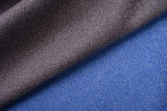 Dark gray and true blue cotton cloth Royalty Free Stock Photos