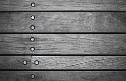 Dark gray wall made of wooden boards Stock Images