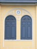 Dark gray window Stock Image