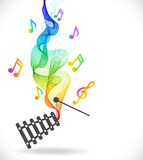 Dark gray xylophone icon with color abstract wave Stock Image