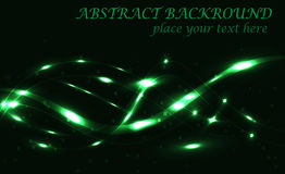 Dark green abstract background bokeh vector. Dark green background bokeh with lights vector illustration Royalty Free Stock Image