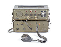 Dark green amateur ham radio on white background Stock Photo