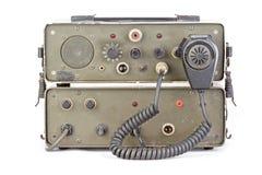 Dark green amateur ham radio on white background Royalty Free Stock Photography