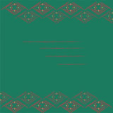 Dark Green Background with Geometric Frame Royalty Free Stock Images