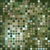 Dark green background of small squares. Geometric shapes. Mosaic texture. Used as a backdrop. Place your text on top Royalty Free Stock Photos
