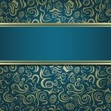 Dark Green Blue Invitation Card Royalty Free Stock Image