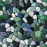 Dark green blue marble irregular plastic stony mosaic seamless pattern texture background Royalty Free Stock Photography