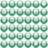 Dark green buttons Royalty Free Stock Photos