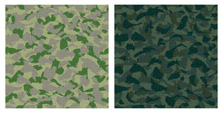 Dark green camouflage. Vector set of dark green camouflage seamless pattern Royalty Free Stock Photo