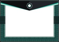 Dark Green Certificate or diploma template frame - border royalty free stock photos