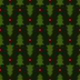 Dark green Christmas fir tree seamless pattern Royalty Free Stock Image