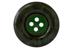 Dark green clothes button Stock Photos