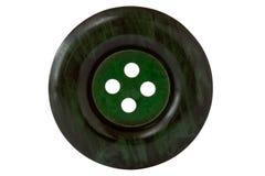 Dark green clothes button Stock Photos